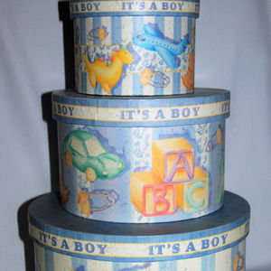 Baby Boy Keepsake Nesting Boxes, Shower gift